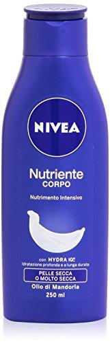 Nivea Nutriente Corpo Crema Idratazione Profonda e a Lunga Durata, Olio di Mandorla, 250ml