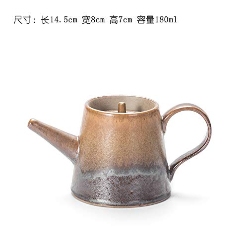 Keramik Teekanne Kettle e Aus Keramik Ceramic Teapot Filter Japanese Style Beam Pot Stoneware Retro Tea Set Pu'Er Tea Bubble Teapot 180Ml, Teapot Coffee