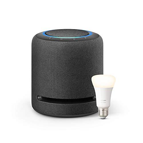 Echo Studio + Philips Hue Ampoule Connectée White (E27), compatible avec Bluetooth...