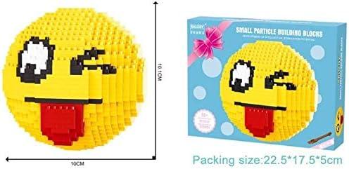 Kleine deeltje bouwstenen - kinder educatief speelgoed - schattige emoji pakket serie - for kinderen plezier cadeau, kleur: zoals (Color : Smug) Naughty