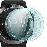 zanasta 3 Stück Schutzfolie für Garmin Fenix 5 (47mm) Bildschirmschutzfolie aus gehärtetem Glas | Panzerglasfolie Smartwatch Zubehör