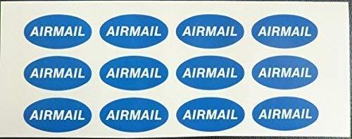 Post und Umschlag Aufkleber, Luftpost, 40x20mm oval Selbstklebende Post Umschlag Etikett