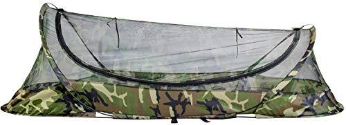 Bivy Zelt Schlafnetz System für Outdoor, Camping, Haus und Fliegen Insektenschutz (Camouflage)
