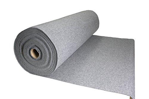 Tukan-tex Filz Grau Filzstoff 50x150cm Meterware 3,0mm Stark- Soft