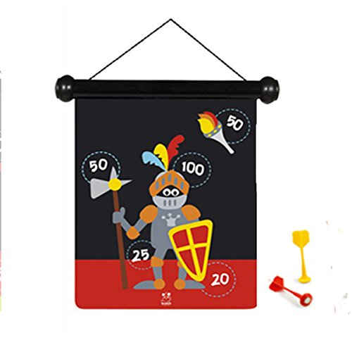 Scratch 6182012 6182012-Dartspiel für Kinder, Ritter, klein, magnetisch, 30 x 24 cm