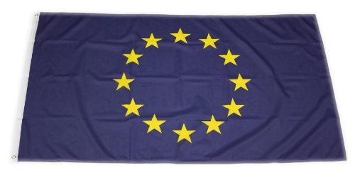 Original Handycop® Flagge Fahne F92034 Euro Europa Europäische Union 90 x 150 cm - wetterfeste Qualität