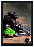 Picati Schokoladenstücke im Schattenfugen Bilderrahmen |
