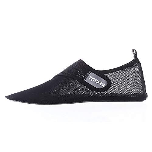 Asncnxdore Pareja al Aire Libre de Malla de Fondo Blando Zapatos de río Zapatos de Yoga Antideslizantes de Secado rápido Transpirable Zapatos de Playa (Negro) (Color : Black, Size : US8.5)