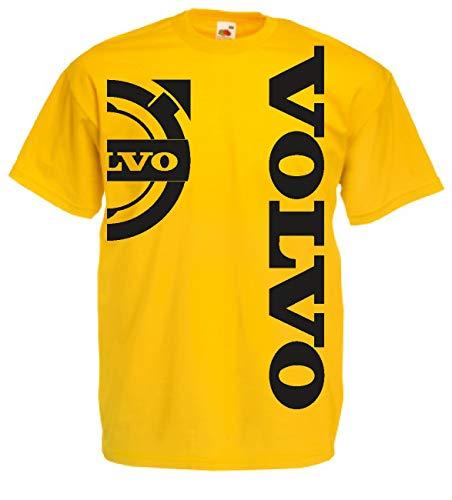 Generico t-Shirt Volvo Logo Camion tir lkv Holland Style Truck Idea Regalo 12 Colori Anche per Bambini(L, Giallo)