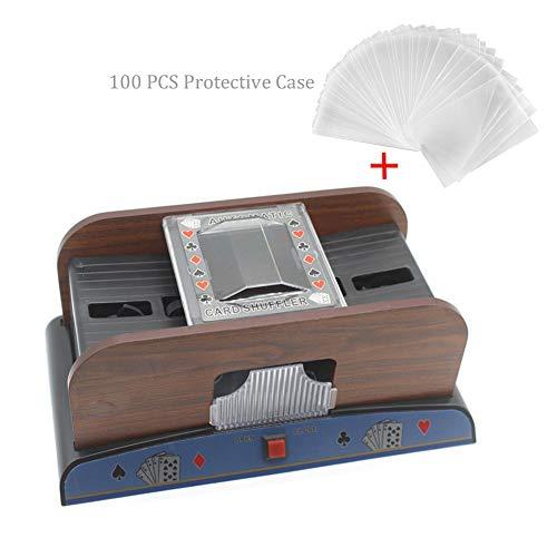 Lancei Kartenmischmaschine Elektronische Poker Spielkarten Automatische Kartenmischer Gametic Card Shuffler für Alle Karten Spiel in Standardgröße