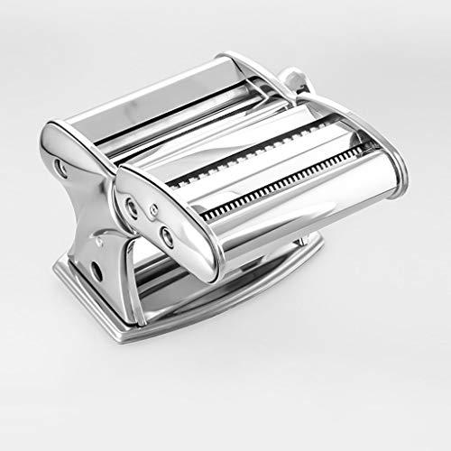 ZWB Nudelmaschine Manuell Pasta-Hersteller-Maschine, Edelstahl Frische Nudeln Press Pasta Spaghetti Making Machine Handkurbel Haushalt Multi-Funktions-Küche-Werkzeug