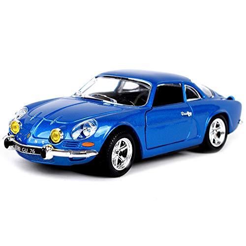 LMEI-Cars 1971 Renault Modellauto, 1:24 Statische Simulation Druckgussmodell, Metallkarosserie, Fertigmodell, Heimtextilien, Retro-Spielzeugauto