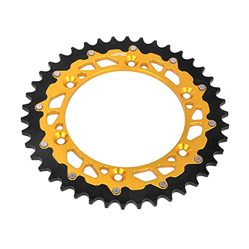 YGHAPPY Motorcycle 42 48 49 50 51 Rear Sprocket Fit for Suzuki TSR125 TSR200 DR250 DR350 DRZ 250 400E 400S RM RMZ RMX 125 250 450 450Z RS175 (Color : 47T)