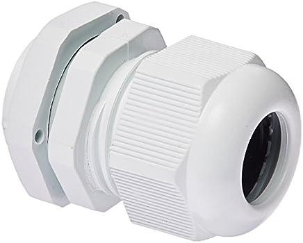 M20 x 1,5 weiße wasserdichte Kabelverschraubungen aus Kunststoff, 10 Stück