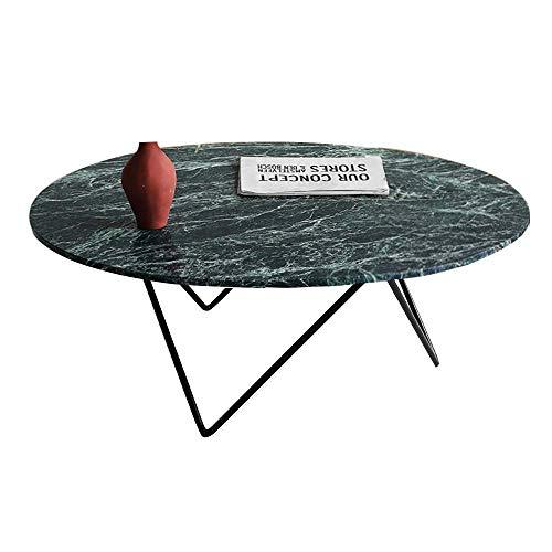 WGFGXQ coffee table Oval Green Marble Coffee Table, Irregular Geometric Triangular Tray, Suitable for Living Room Hotel, 80 × 45 × 45cm