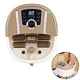 Masajeador de Pies Spa con masaje de rodillos shiatsu Eléctrico con calor para Baño portátil...