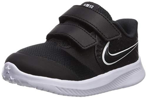 Nike Unisex Baby Star Runner 2 (TDV) Sneaker, Schwarz (Black/White-Black-Volt 001), 25 EU