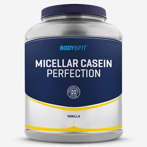 BODY & FIT Casein Perfection - Poudre de Caséine Micellaire - Pot de 2KG - Goût: Vanille