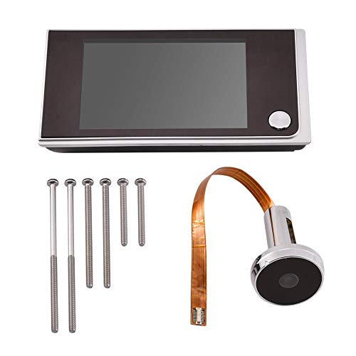 Socobeta Mirilla Digital Visor Timbre Mini HD Cámara de Seguridad Inteligente Pantalla LCD de 3,5 Pulgadas para Interiores