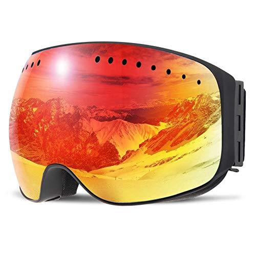 WOWDSGN Skibrille Snowboard Brille Doppelscheibe Anti-Fog UV-Schutz Schneebrille Großes Sichtfeld Für Damen Herren Jungen und Mädchen