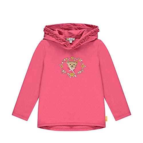 Steiff Sweatshirt Sudadera con Capucha, Color Rojo, 116 cm para Niñas