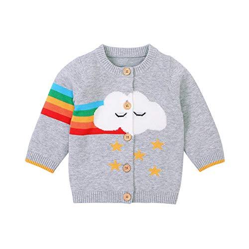 Cárdigan de Invierno para bebés y niños, URMGAIC Suéteres de Manga Larga de Punto de Dibujos Animados para bebés pequeños y Gruesos Outwear de otoño Grueso Prendas de Punto para 0-18 Meses