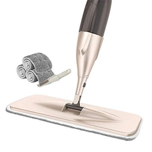LSCZQ Multifunctionele Creativiteit Microvezel Spray Mop Kit Met 3 Mops + Scraper, Premium RVS Buis, Geschikt voor Hardhout, Tegel, Laminaat, Keramisch