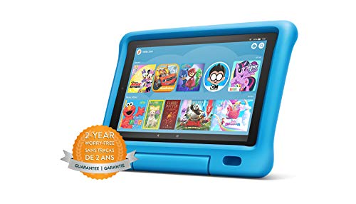 """Fire HD 10 Kids Edition Tablet – 10.1"""" 1080p full HD display, 32 GB, Blue Kid-Proof Case (2019 Release) (Electronics)"""