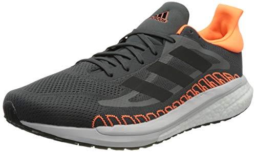 adidas Solar Glide ST 3 M, Zapatillas de Running Hombre, Grey Six Core Black Screaming Orange, 39 1/3 EU