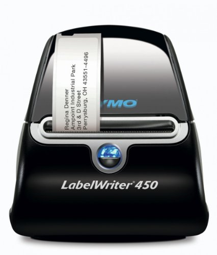 Dymo LabelWriter 450 [600 x 300 DPI, 51 lpm, Black,Silver, USB 2.0, Serial, 5.8 cm, Windows/MAC]