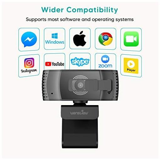 Wansview Webcam 1080p Autofocus con Microfonos de Reducción de Ruido, USB Webcam Plug and Play con Clip Giratorio, Full… 6