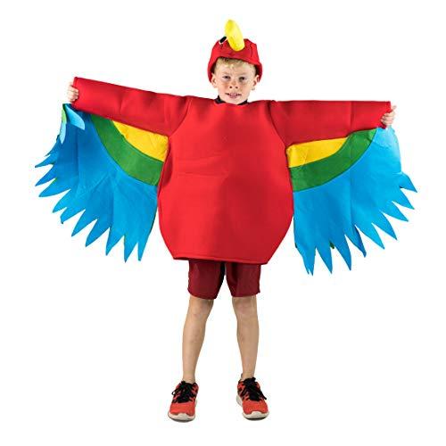 Bodysocks Papegaai Feestelijke Jurk Kostuum (Kinderen)