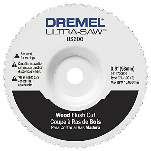 Dremel US600-01 Ultra-Saw 4-Inch Wood Flush Cut Wheel , White