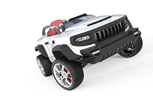 HENES BROON T870 Luxus Kinder Elektroauto weiß mit Tablet PC 24 Volt Allrad