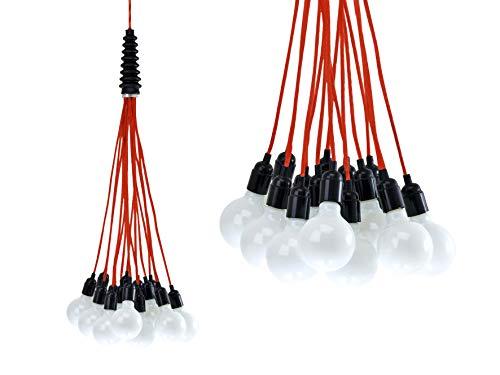 Leitmotiv hanglamp bundel licht, kabel rood LM580
