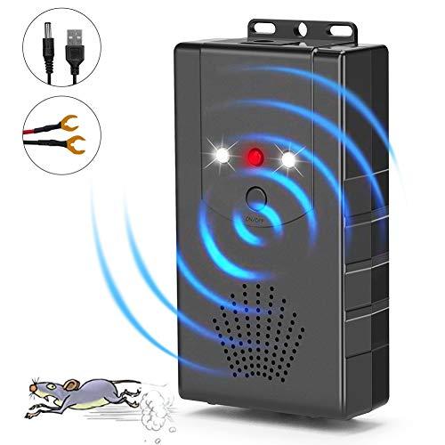 Linkax Marderschreck Auto,Ultraschall Marderschutz Marderabwehr Marder-Frei Mobil Maus Vertreiber mit LED-Blitzlichtfunktion,Maus-Repeller (1)