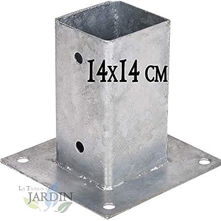 Suinga - ANCLAJE CUADRADO METALICO 12x12 cm, base 17,5x17,5 ...