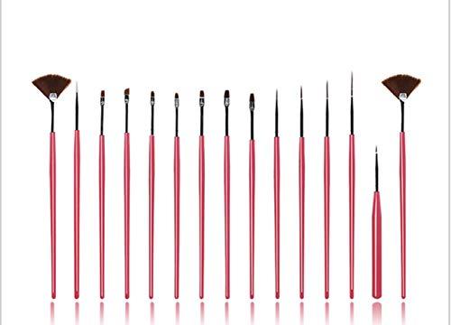 CHONGYA 15 Pcs Nagel Pinsel set Nail Art pinselset Nagel Malerei Zeichnung Pinsel Set Gel Pinsel Gelnägel Pinsel für UV Gel und Acrylfingernägel Nailart Maniküre Nagelzubehör