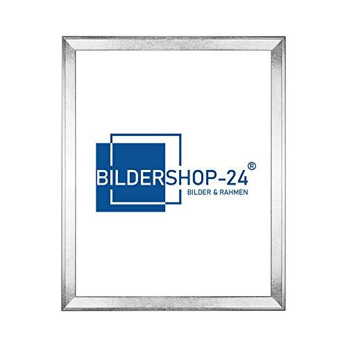 Bilderrahmen Prio schmal und modern in 30x40cm Silberglanz Vintage Silber Glanz Vintage