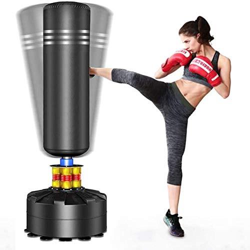 YOLEO Boxsack StandboxsäckeTrainingsgeräte Erwachsene Freistehender Standboxsack Boxing Trainer Heavy Duty Punchingsäcke (Schwarz (175cm/69inch))