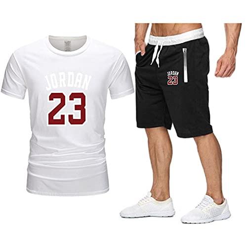SJYMKYC 2 Piezas De Camiseta De Baloncesto, Pantalones Cortos para Correr, 23,...