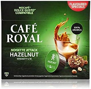 Café Royal Hazelnut Capsules Compatibles avec Nescafé Dolce Gusto Intensité 4/10 Certifié UTZ Flavoured Special 91 g