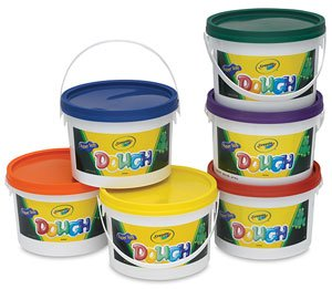 Crayola BIN570016 Super Soft Modeling Dough, Assorted Colors, Pack of 6