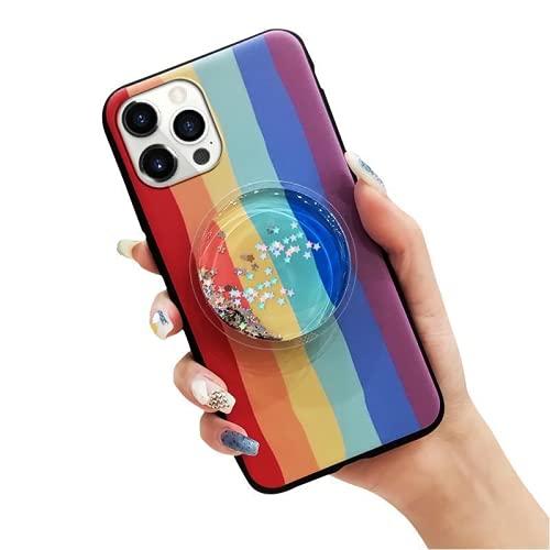 NLZNKZJ 2 PCS Caja del teléfono de los Pares del Brillo de la Historieta 3D para el iPhone 13Pro, Soporte Suave del Soporte del Tenedor de la Cubierta del teléfono del Gel de TPU a Prueba de Golpes