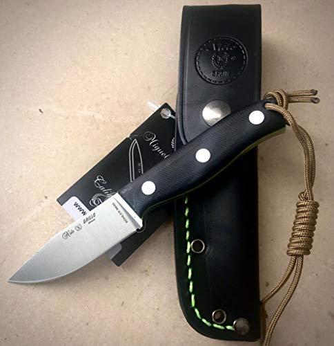 Nieto 130-G10. Cuchillo de Cuello Miguel Nieto GRILLO. Mango G10. Hoja 7 cm. Funda de Cuero