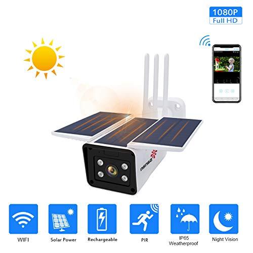 WQYRLJ 1080P Waterdicht buiten de camera WiFi-opslag in de cloud, met zonne-energie, voor huisdieren, elder, babymonitor