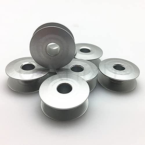 Landia 10 unids/lote Industrial Aluminio Bobinas Metal Carretes Carft Para Cantante Hermano Máquina de Coser Herramientas 7yj311