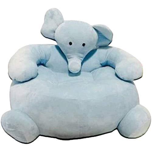 YUEHAPPY Elefante Sofá Bebé Felpa Elefante Sillón Mullido Animal Silla Amortiguar Relleno Animal Juguete Muñeca