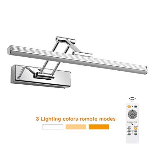 ELINKUME Spiegellampe Badlampe Badleuchte 8W Fernbedienung Dimmbar 3600LM Faltbar Led Badezimmerlampe Bad Spiegel Leuchte