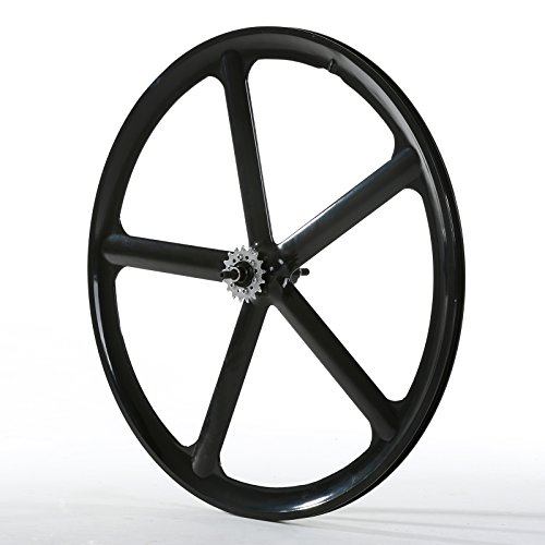 Solomone Cavalli 700c 5 Spoke All-in-one Rear Bicycle Wheel for Fixie Fixed Gear Road Single Speed